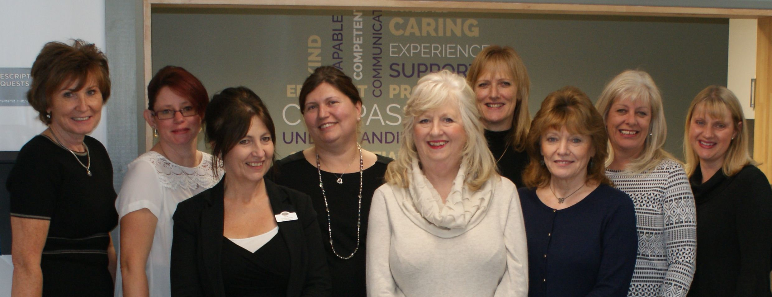 The reception and Administration team