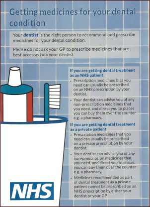 Getting Medicines for your Dental Condition leaflet